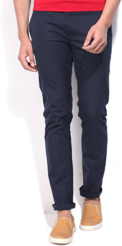United Colors of Benetton Slim Fit Men's Dark Blue Trousers