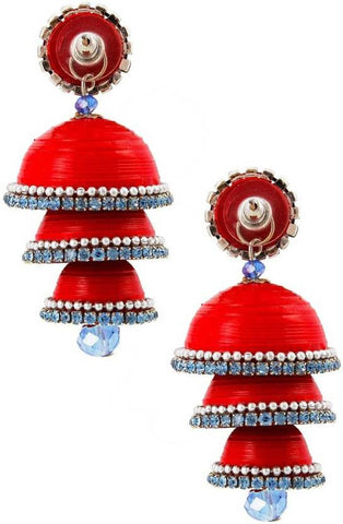 Halowishes Traditional Handcrafted Triple Jhumka Paper Jhumki Earring