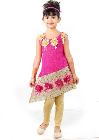 Singham Baby Girl's Maxi/Full Length Party  (Multicolor)