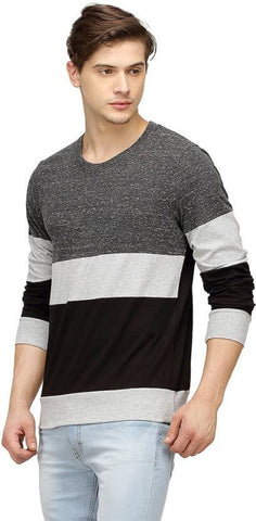 Campus Sutra Solid Men's Round Neck Multicolor T-Shirt