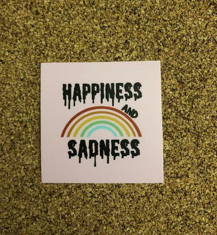 Happiness and Sadness Sticker