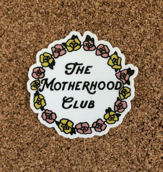 Motherhood Club Stickers (white or black)