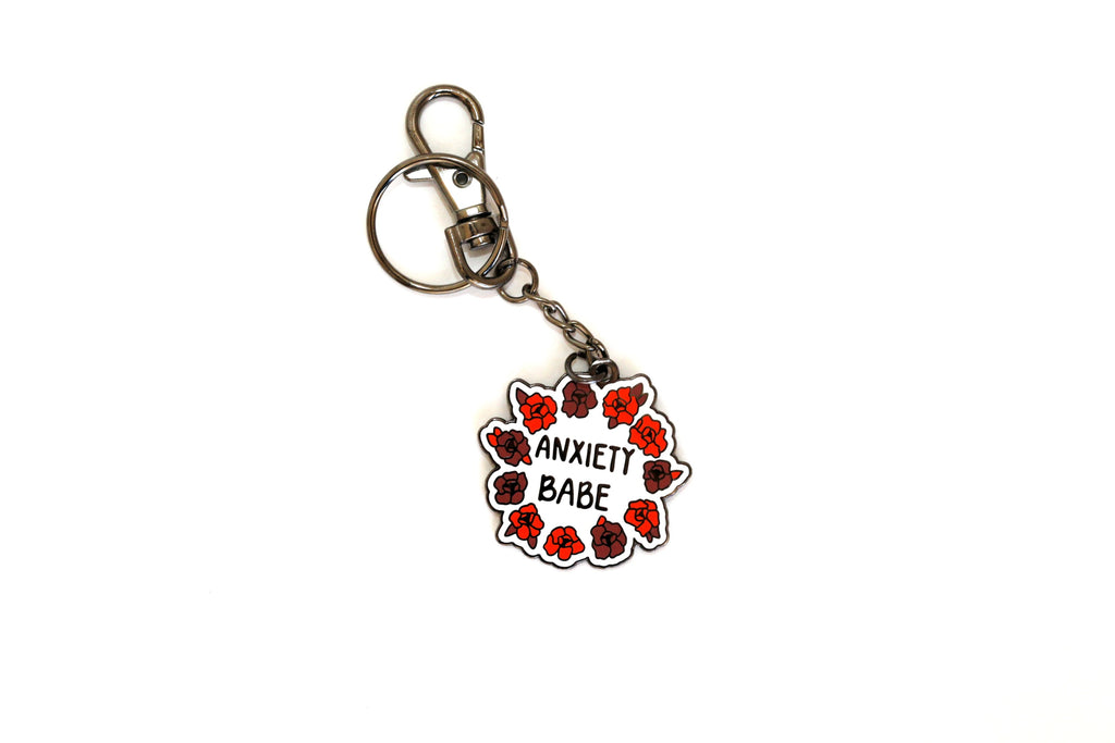 The Anxiety Babe Keychain