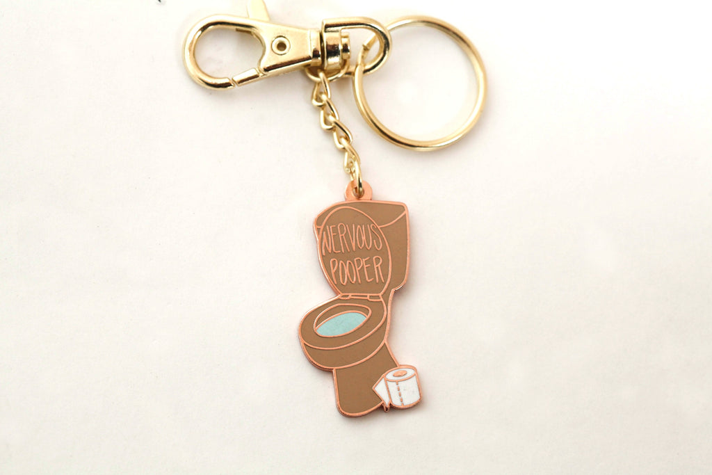 The Nervous Pooper Keychain