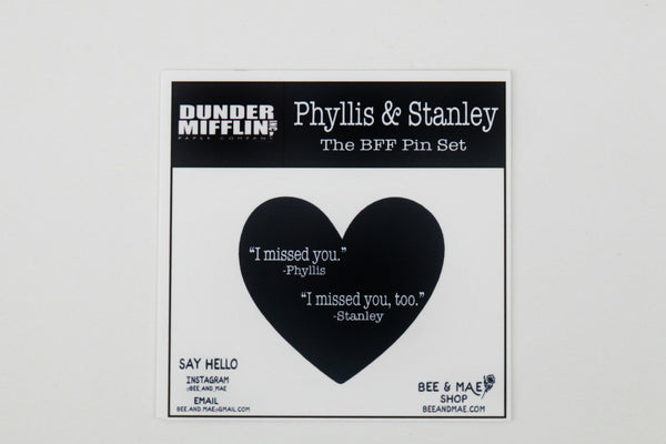 The Phyllis and Stanley BFF Pin Set