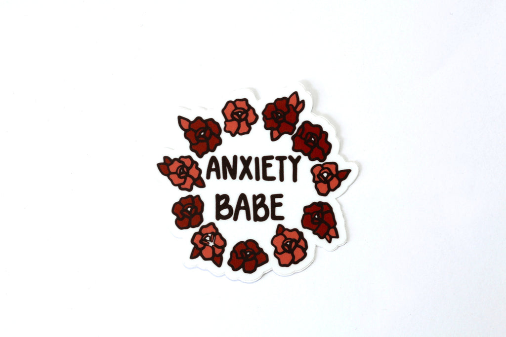Anxiety Babe Sticker