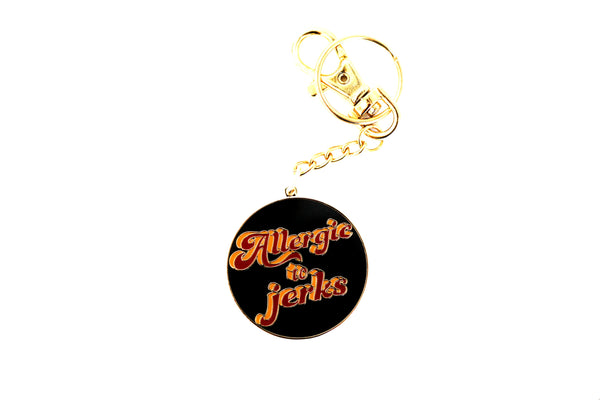 The Allergic to jerks Keychain