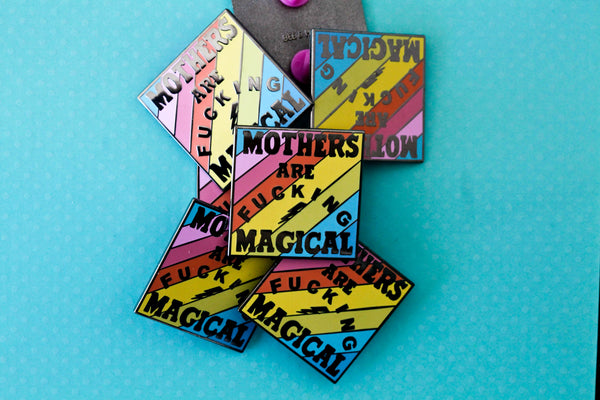 The Rainbow Magical Mom Pin