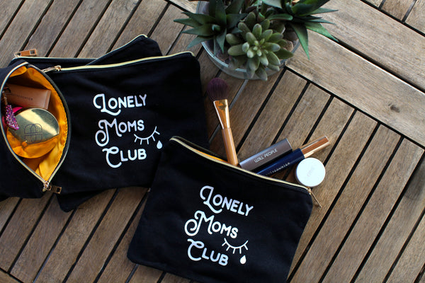 Lonely Moms Club Large Canvas/Makeup Bag