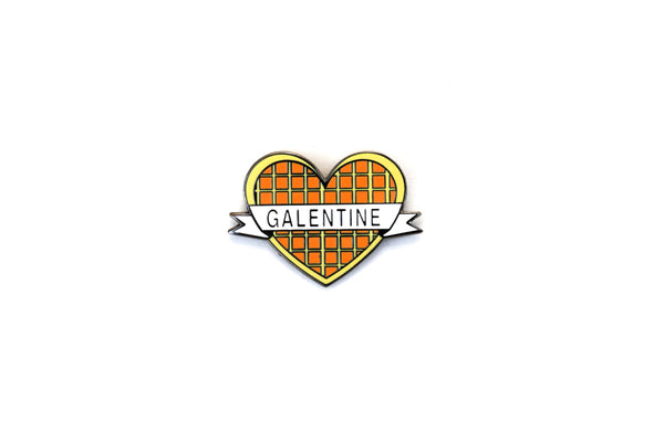 The Galentine Waffle Pin