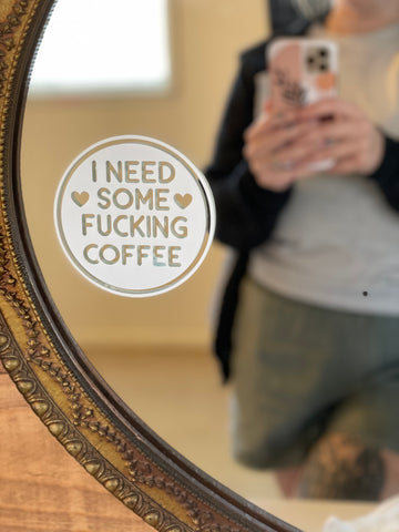 Coffee Needed DECAL (WHITE)