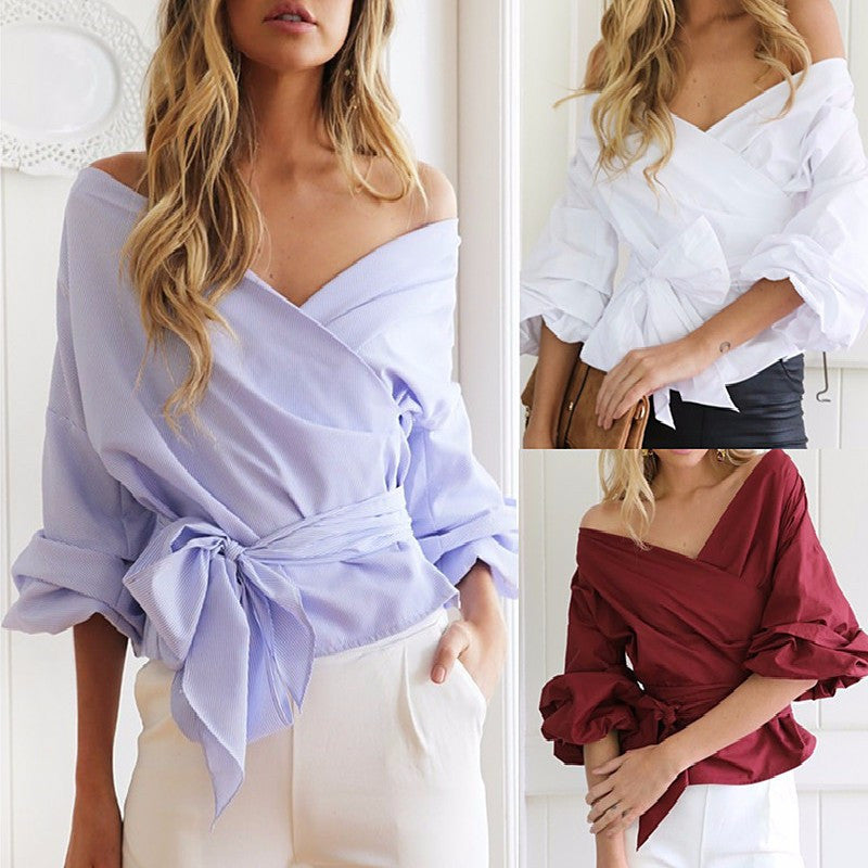 "Inspired by Rachel's Look on ""The Bachelorette"" - Off the Shoulder Blouse"