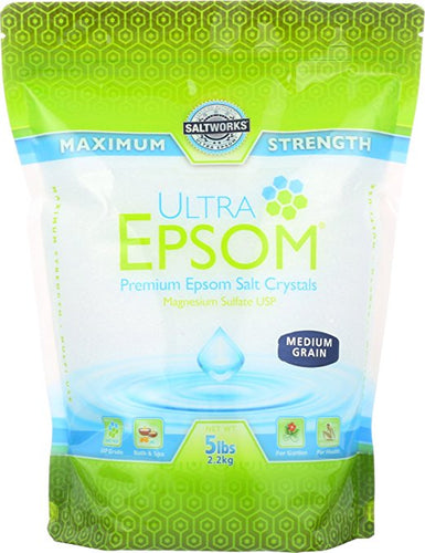 Ultra Epsom Medium Salt, 5 Pound -- 1 each.