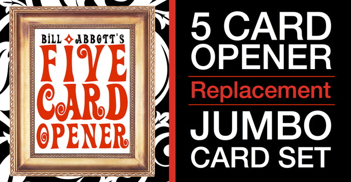 5 Card Opener Replacement Jumbo Card Set