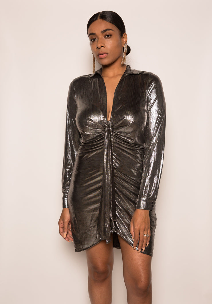 Bee Metallic Dress