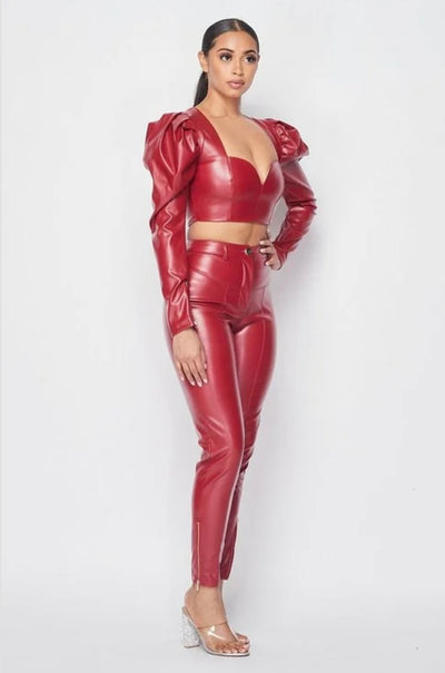 Show Stopper Faux Leather Set