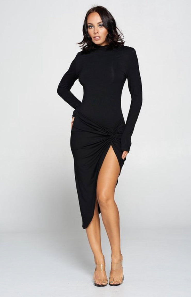 Teresa Thigh Slit Bodycon Dress