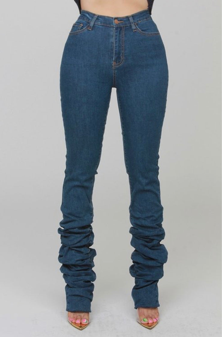 Malia Ruched Denim Jeans