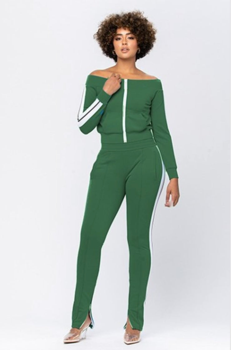 Boss Girl Green Tracksuit