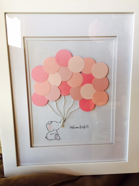 Pink Elephant Balloon Guest Book