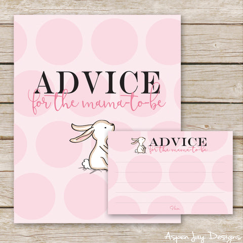 Pink Bunny Advice for the Mama-to-Be