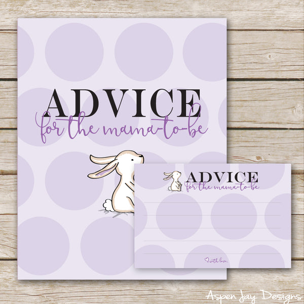 Purple Bunny Advice for the Mama-to-Be