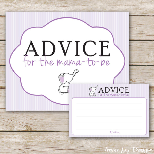 Purple Elephant Advice for Mama-to-Be
