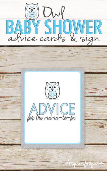 Blue Owl Advice for Mommy-to-Be