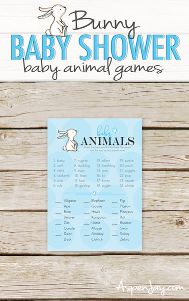 Blue Bunny Baby Animal Names