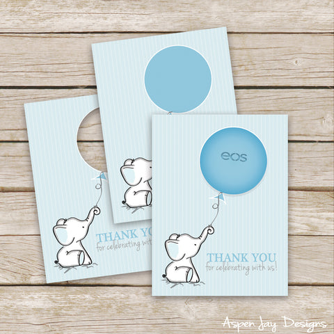 Blue Elephant EOS Lip Balm Favor Card