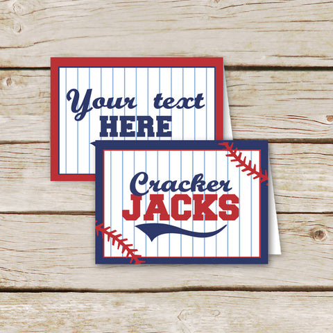 Editable Baseball Party Labels