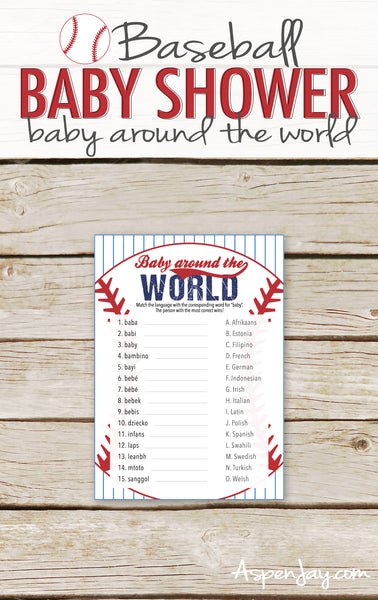 Baseball Baby Around the World