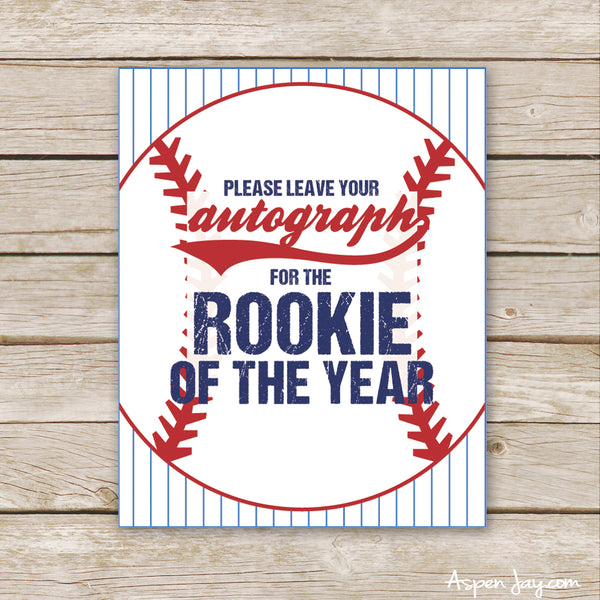 Baseball Rookie Autograph Sign