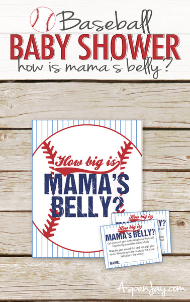 Baseball How Big is Mommy's Belly