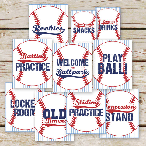 Baseball Party Signs