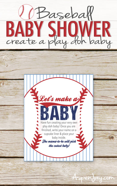 Baseball Play Doh Baby Sign