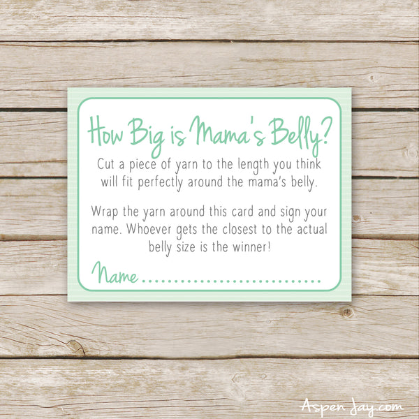 Green Elephant How Big is Mommy's Belly