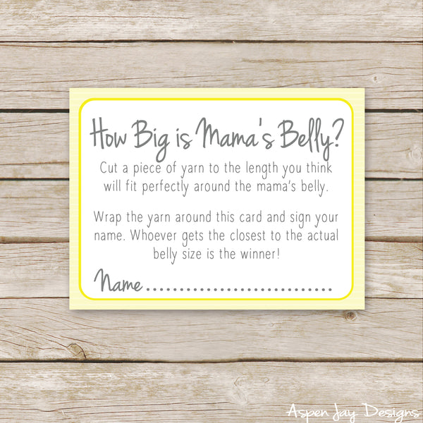 Yellow Elephant How Big is Mommy's Belly