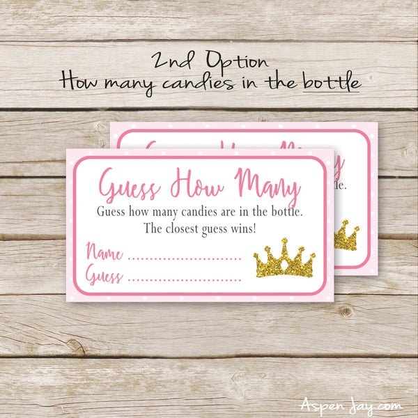 Pink Princess Candy Guessing Game