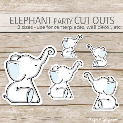 Blue Elephant Cut Outs