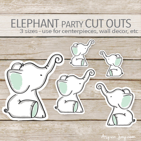 Green Elephant Cut Outs