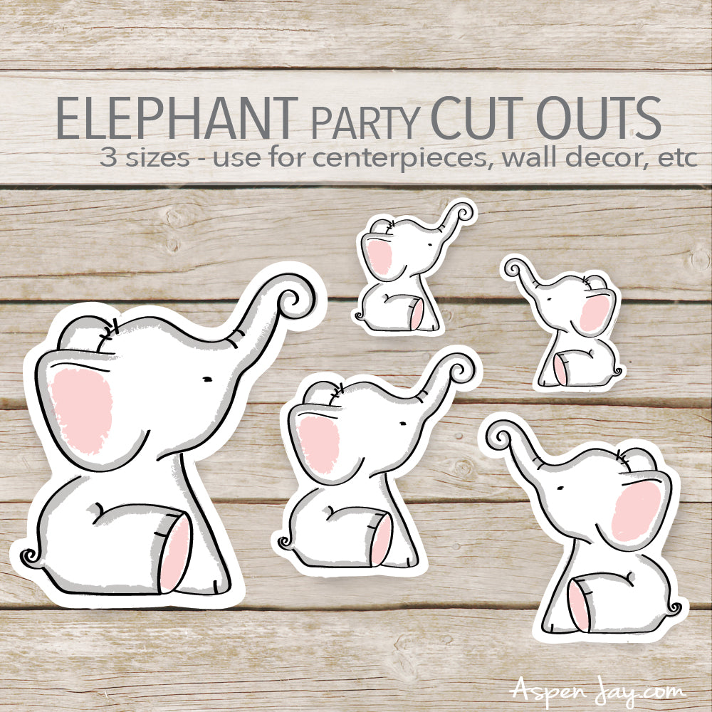 Pink Elephant Cut Outs