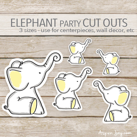 Yellow Elephant Cut Outs
