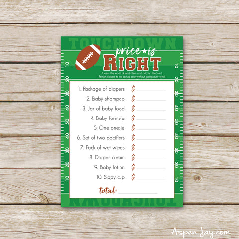 Football Baby Price is Right