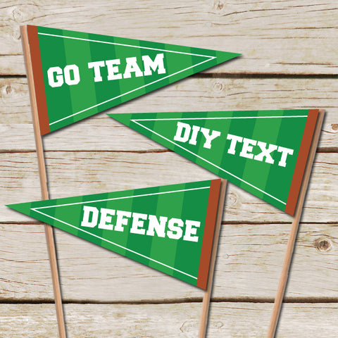 Editable Football Pennant Flags
