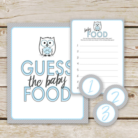 Blue Owl Guess the Baby Food