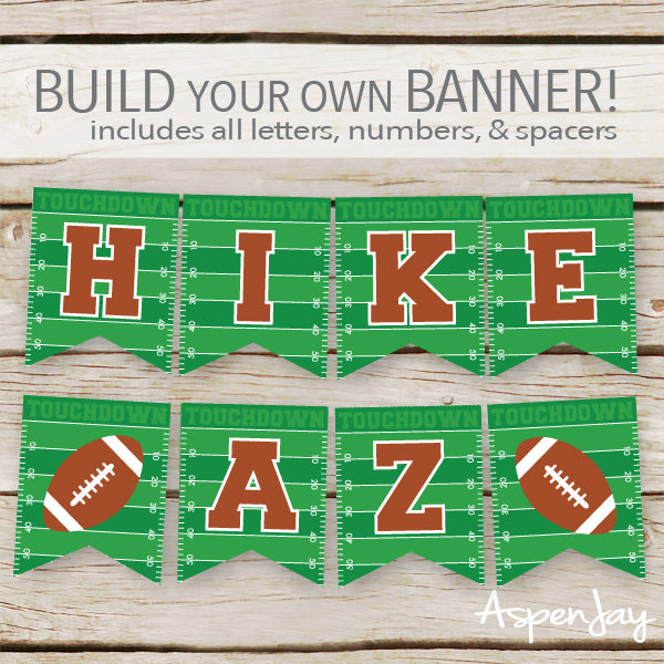 Football Banner - ALL Letters & Numbers
