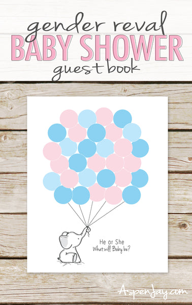 He or She Elephant Guest Book (not customized)