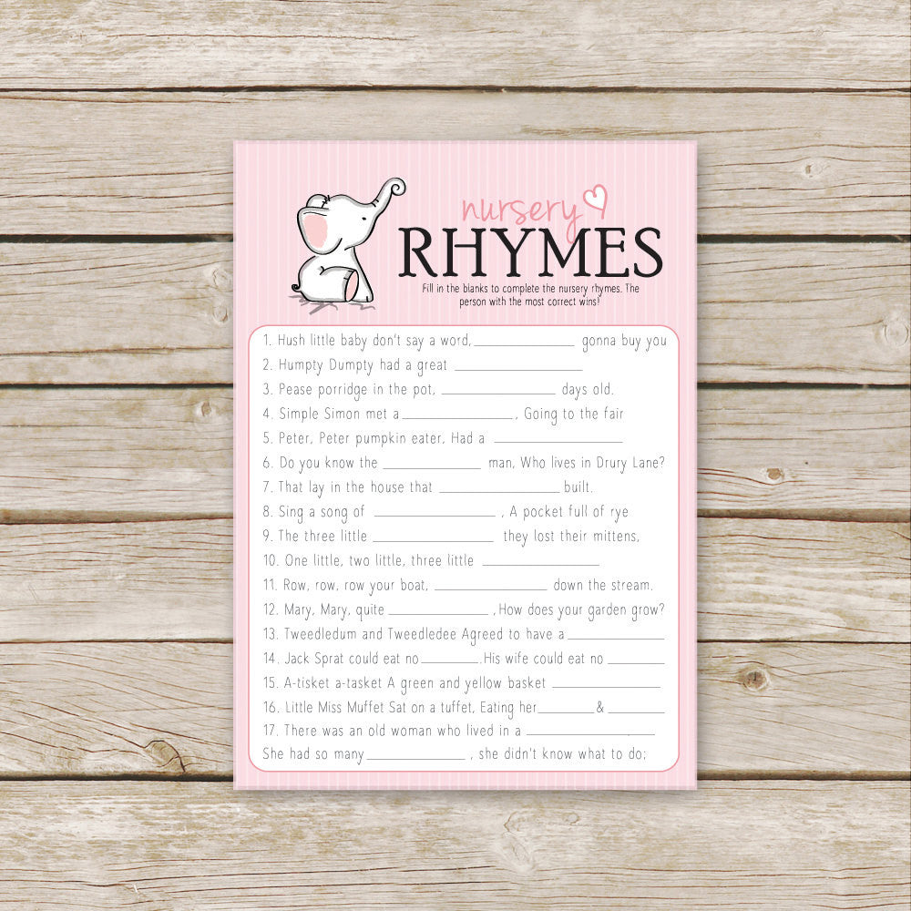 Pink Elephant Nursery Rhymes
