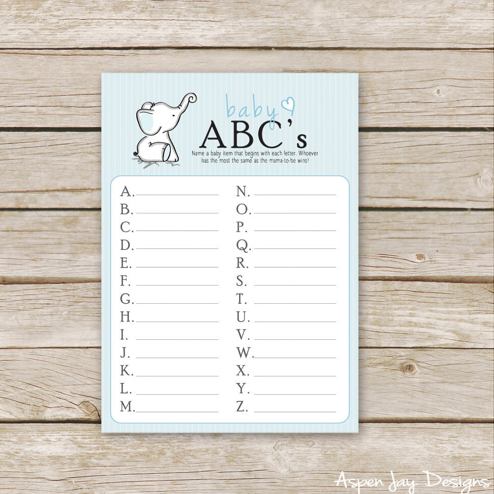 Blue Elephant Baby ABC's